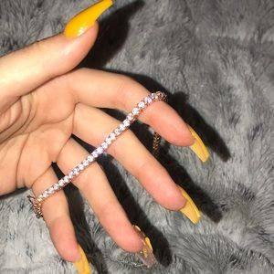 Faux diamond & gold bracelet